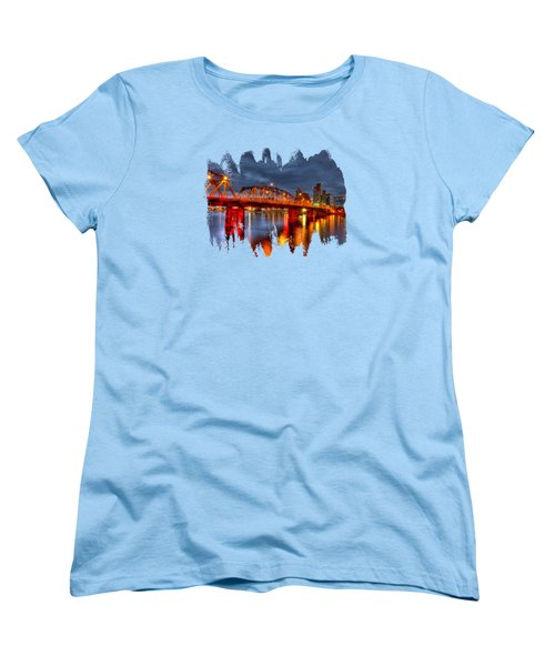 The Hawthorne Bridge - Pdx Women's T-Shirt (Standard Cut) by Thom Zehrfeld