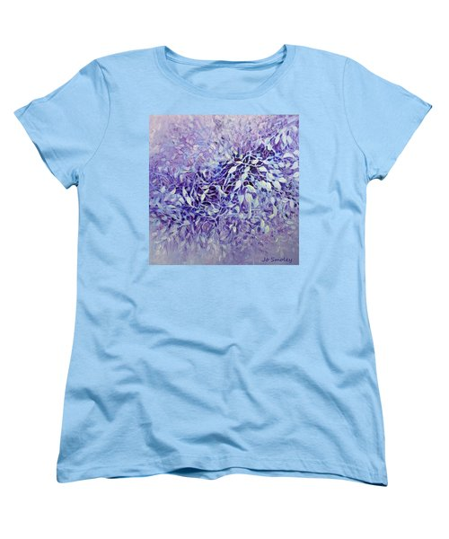 Women's T-Shirt (Standard Cut) featuring the painting The Healing Power Of Amethyst by Joanne Smoley
