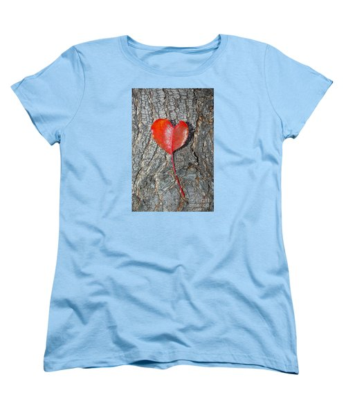 Women's T-Shirt (Standard Cut) featuring the photograph The Heart Of A Tree by Debra Thompson