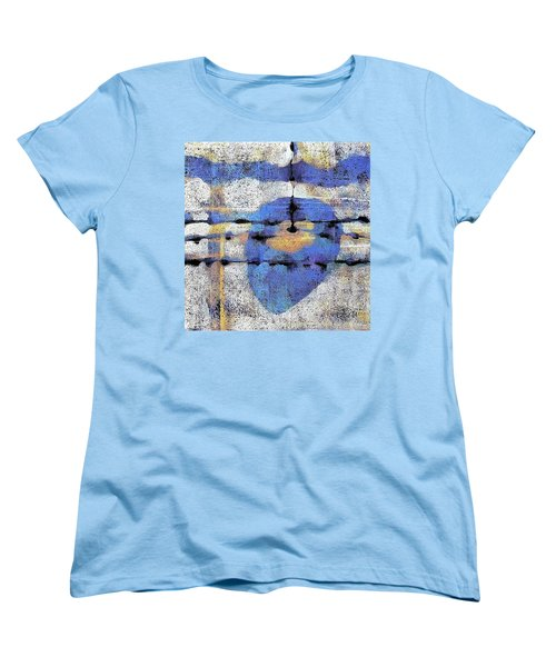 Women's T-Shirt (Standard Cut) featuring the painting The Heart Of The Matter by Maria Huntley