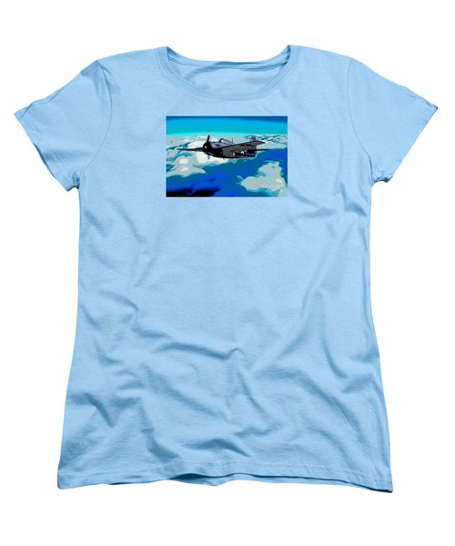 The High Flight Of A Grumman F4f Wildcat Women's T-Shirt (Standard Cut) by Wernher Krutein