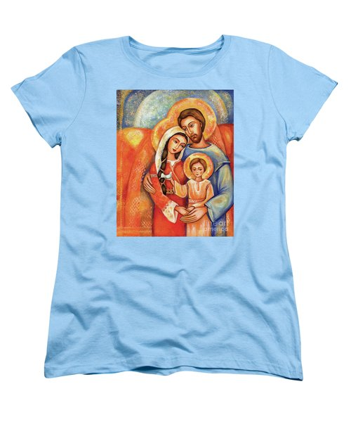 Women's T-Shirt (Standard Cut) featuring the painting The Holy Family by Eva Campbell