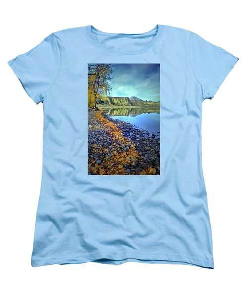 Women's T-Shirt (Standard Cut) featuring the photograph The Hoodoos And Highway 97 by Tara Turner