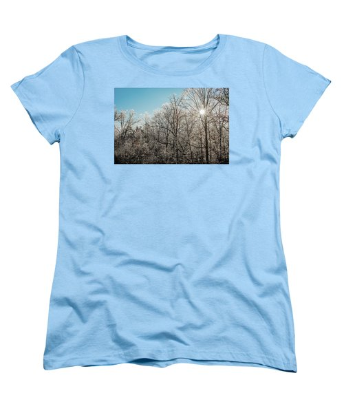 The Ice Storm Women's T-Shirt (Standard Cut) by Penny Lisowski