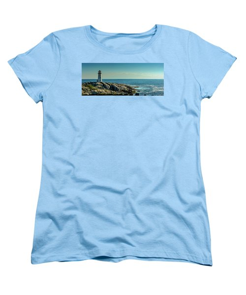 The Iconic Lighthouse At Peggys Cove Women's T-Shirt (Standard Cut) by Ken Morris