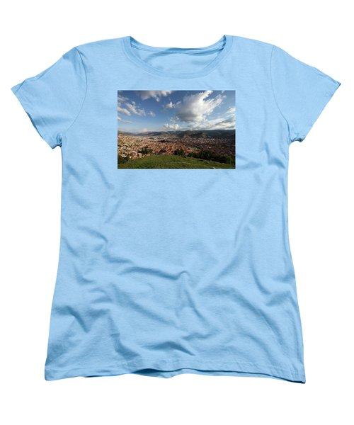 Women's T-Shirt (Standard Cut) featuring the photograph The Inca Capital Of Cusco by Aidan Moran
