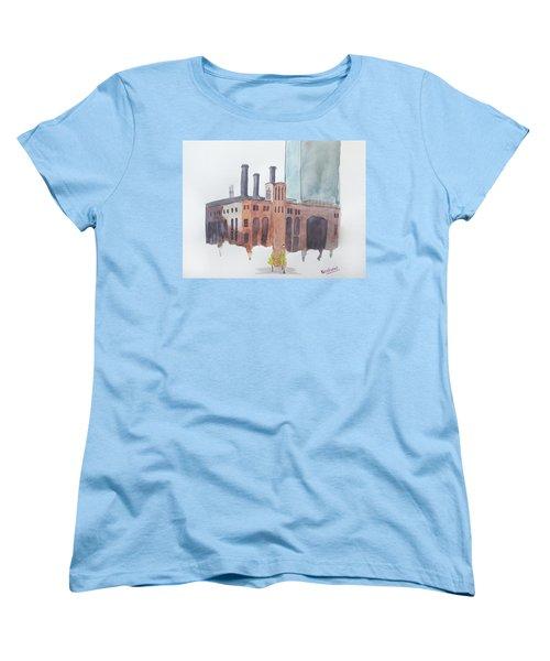The Jersey City Powerhouse Women's T-Shirt (Standard Cut) by Keshava Shukla