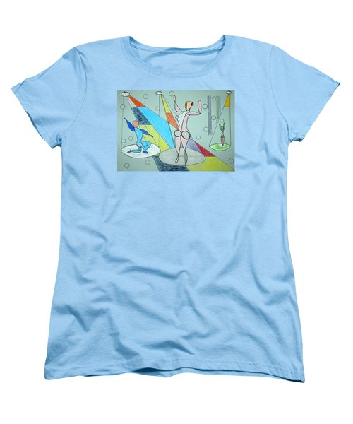 Women's T-Shirt (Standard Cut) featuring the drawing The Jugglers by J R Seymour