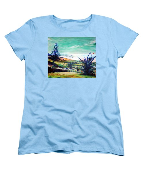 The Lawn Pandanus Women's T-Shirt (Standard Cut) by Winsome Gunning