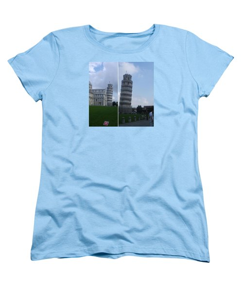 The Leaning Tower Of Pisa Women's T-Shirt (Standard Cut) by Patsy Jawo