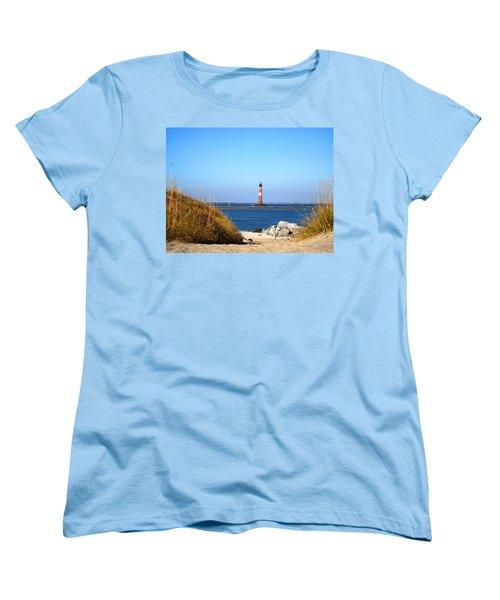 The Lighhouse At Morris Island Charleston Women's T-Shirt (Standard Cut)