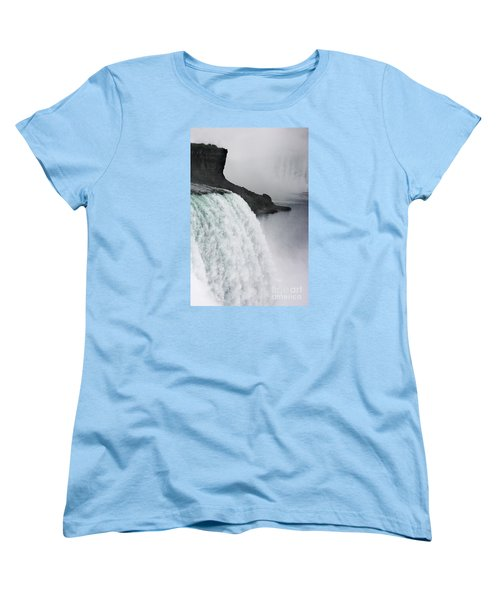 Women's T-Shirt (Standard Cut) featuring the photograph The Liquid Curtain by Dana DiPasquale