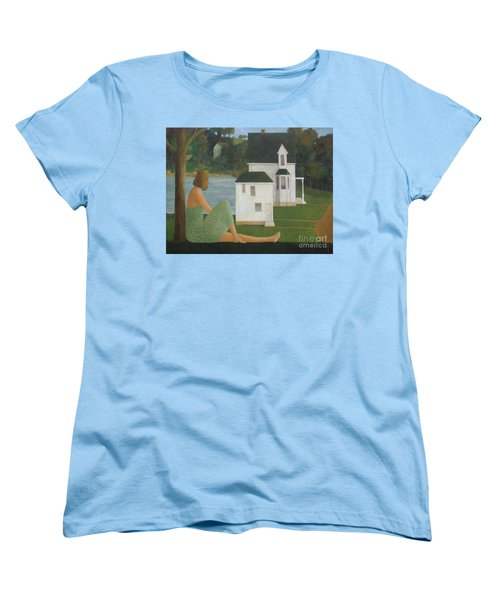 The Lonely Side Of The Lake Women's T-Shirt (Standard Cut) by Glenn Quist
