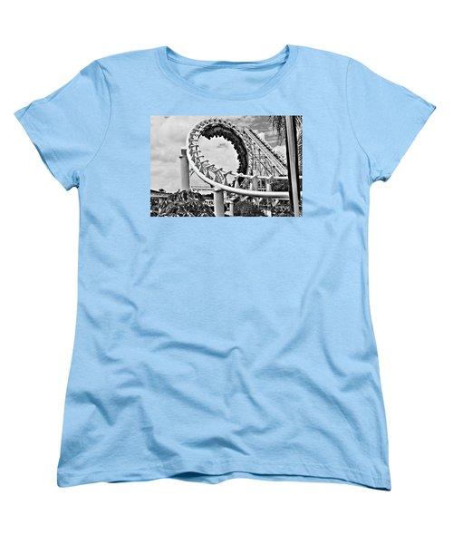 The Loop Black And White Women's T-Shirt (Standard Cut) by Douglas Barnard