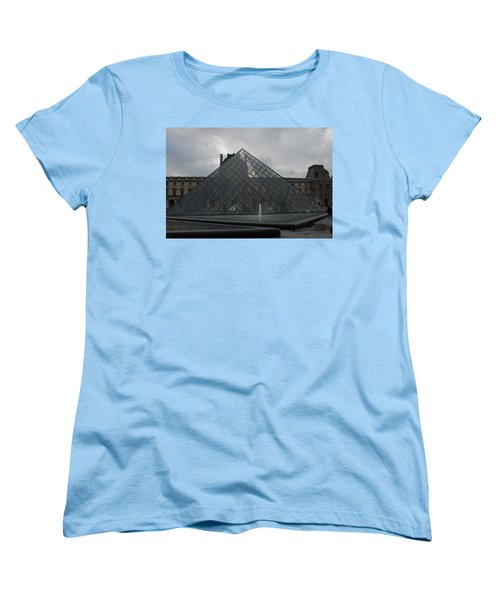 Women's T-Shirt (Standard Cut) featuring the photograph The Louvre And I.m. Pei by Christopher Kirby