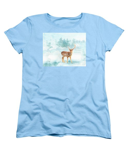 Women's T-Shirt (Standard Cut) featuring the painting The Magic Of Winter  by Colleen Taylor