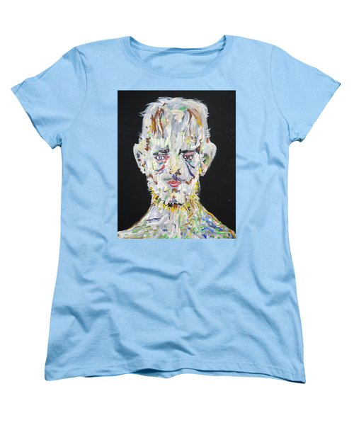 Women's T-Shirt (Standard Cut) featuring the painting The Man Who Tried To Become A Mountain by Fabrizio Cassetta