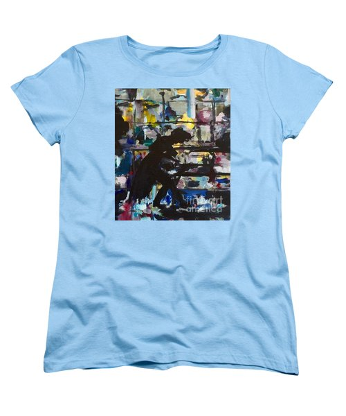 Women's T-Shirt (Standard Cut) featuring the painting The Master by Ellen Anthony