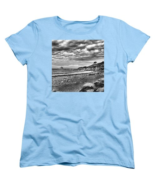 The Mewstone, Wembury Bay, Devon #view Women's T-Shirt (Standard Cut) by John Edwards
