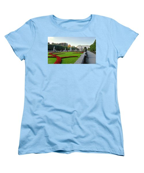 Women's T-Shirt (Standard Cut) featuring the photograph The Mirabell Palace In Salzburg by Silvia Bruno