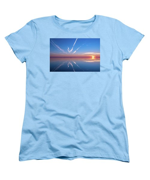 Women's T-Shirt (Standard Cut) featuring the photograph The Mirror by Thierry Bouriat