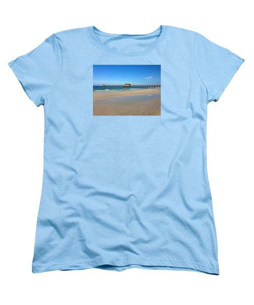 The Naples Pier At Low Tide Women's T-Shirt (Standard Cut)