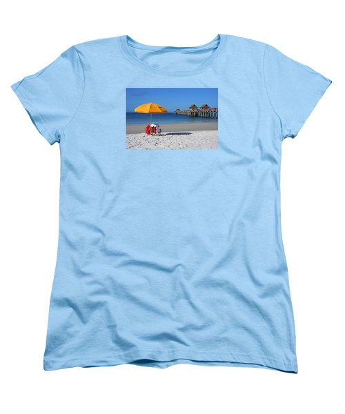 Women's T-Shirt (Standard Cut) featuring the photograph The Naples Pier by Robb Stan