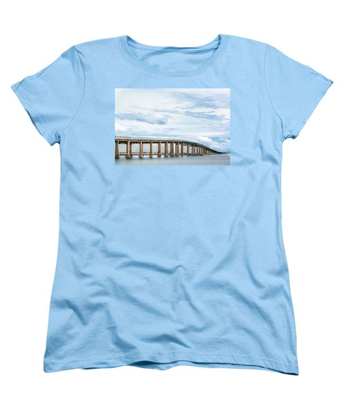 Women's T-Shirt (Standard Cut) featuring the photograph The Navarre Bridge by Shelby Young