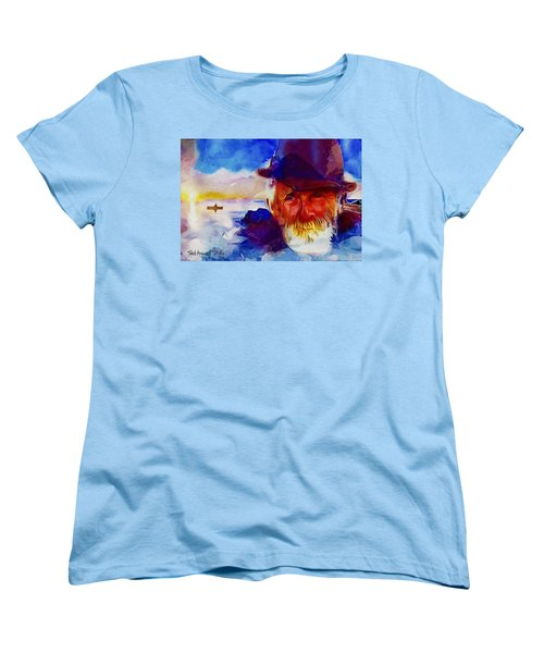 The Old Man And The Sea Women's T-Shirt (Standard Cut) by Ted Azriel