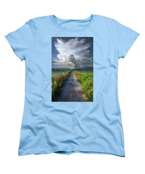 The Only Way In Women's T-Shirt (Standard Cut) by Phil Koch