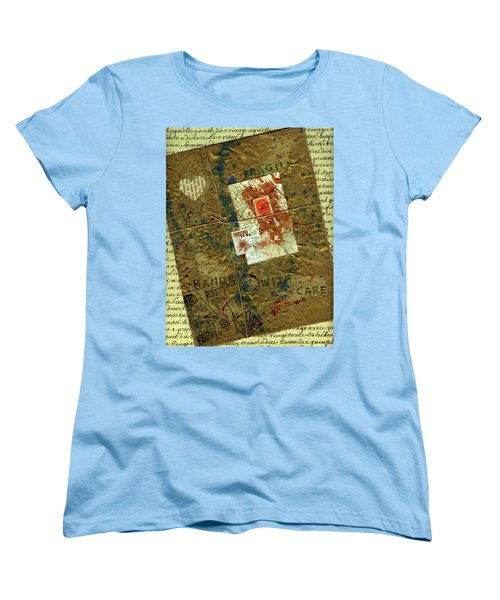 Women's T-Shirt (Standard Cut) featuring the mixed media The Package by P J Lewis