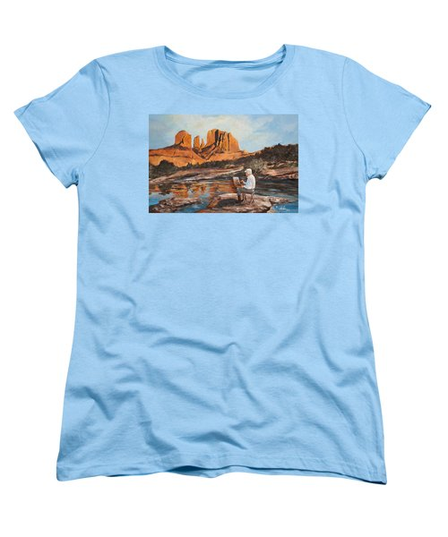The Painter Woods Women's T-Shirt (Standard Cut) by Alan Lakin