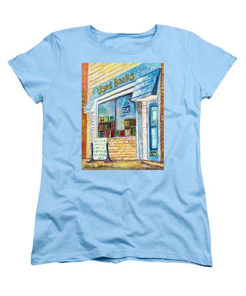 The Paperbacks Plus Book Store St Paul Minnesota Women's T-Shirt (Standard Cut) by Carole Spandau