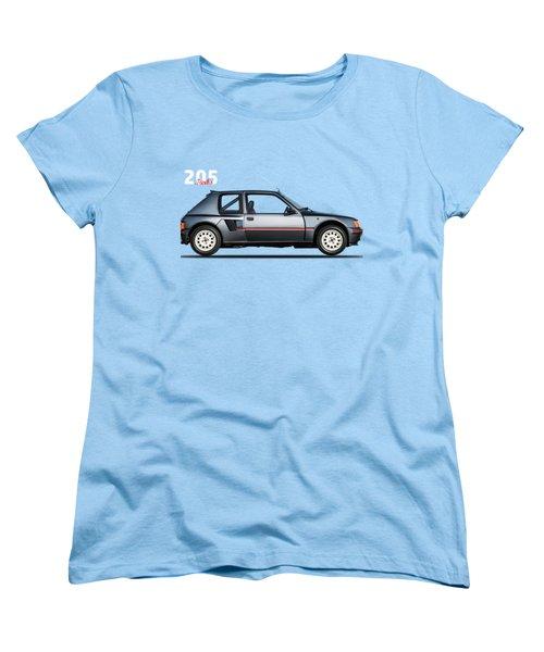 The Peugeot 205 Turbo Women's T-Shirt (Standard Cut) by Mark Rogan