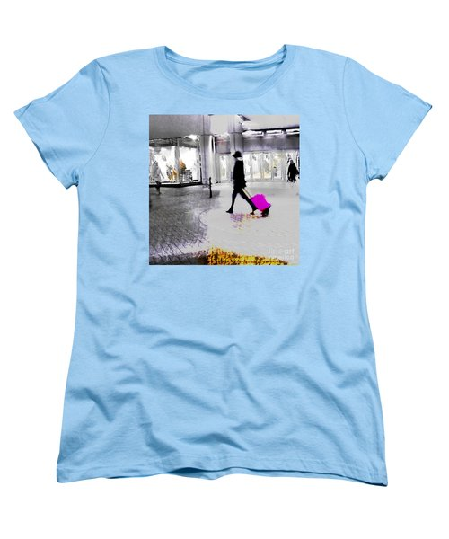 Women's T-Shirt (Standard Cut) featuring the photograph The Pink Bag by LemonArt Photography