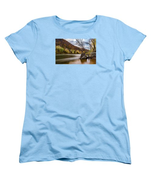 The Potomac In Autumn Women's T-Shirt (Standard Cut) by Ed Clark