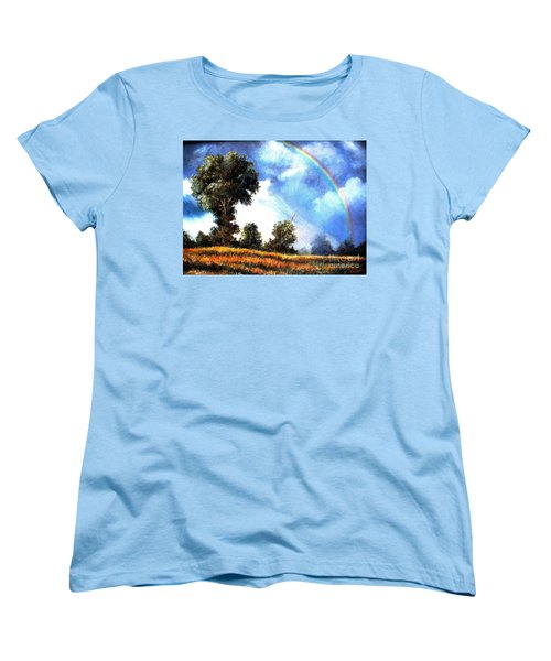 Women's T-Shirt (Standard Cut) featuring the painting The Promise  by Hazel Holland