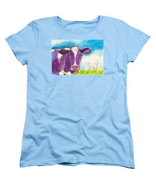 The Purple Cow Women's T-Shirt (Standard Cut) by Whitney Morton