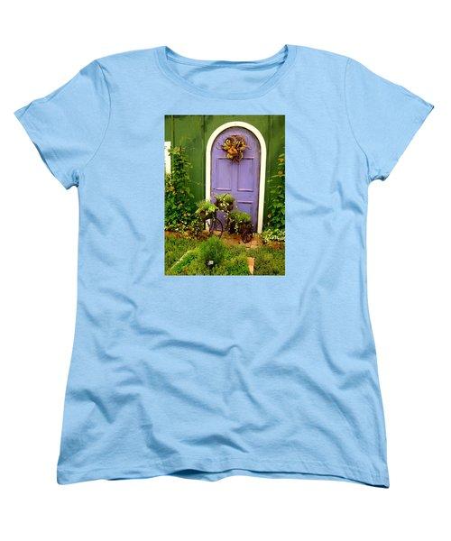 The Purple Door Women's T-Shirt (Standard Cut) by Michiale Schneider