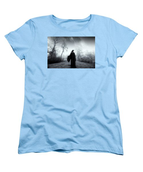 The Reaper Moving Through Mist And Fog Women's T-Shirt (Standard Cut) by Christian Lagereek