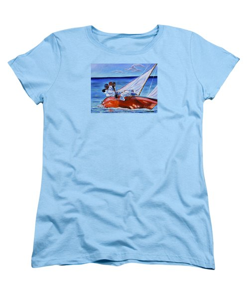 The Red Boat Women's T-Shirt (Standard Cut) by Laura Forde