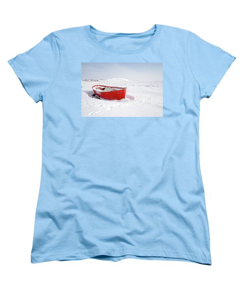 The Red Fishing Boat Women's T-Shirt (Standard Cut) by Nick Mares