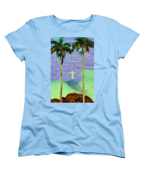 The Redeemer Women's T-Shirt (Standard Cut) by Caito Junqueira