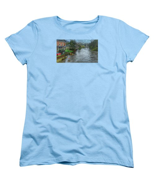 The River Nidd In Flood At Knaresborough Women's T-Shirt (Standard Cut) by RKAB Works