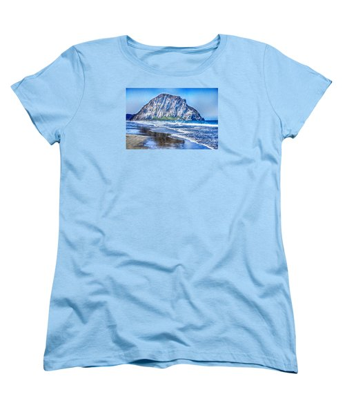 The Rock At Morro Bay Large Canvas Art, Canvas Print, Large Art, Large Wall Decor, Home Decor, Photo Women's T-Shirt (Standard Cut) by David Millenheft