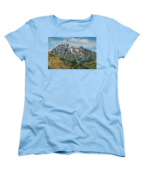 The Rock At Mount Stuart Women's T-Shirt (Standard Cut) by Ken Stanback