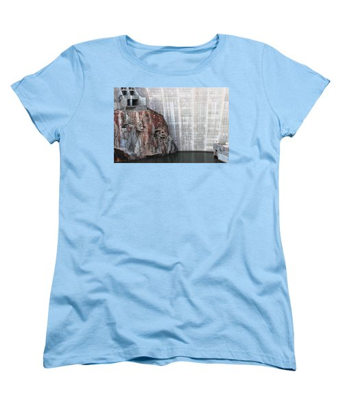 The Rock Behind The Dam Women's T-Shirt (Standard Cut) by Natalie Ortiz