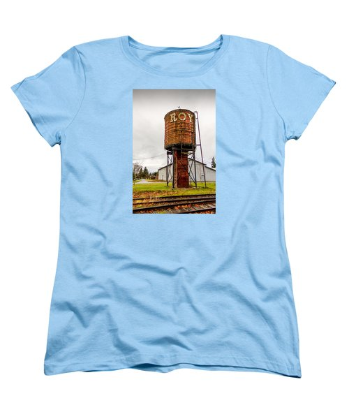 Women's T-Shirt (Standard Cut) featuring the photograph The Roy Water Tower by Rob Green