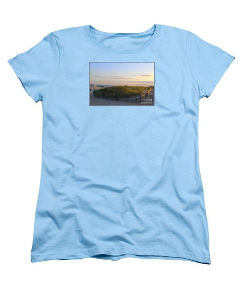 The Sand Dunes Of Long Island Women's T-Shirt (Standard Cut) by Dora Sofia Caputo Photographic Art and Design