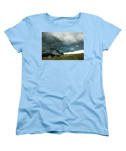 Women's T-Shirt (Standard Cut) featuring the photograph The Saskatchewan Whale's Mouth by Ryan Crouse